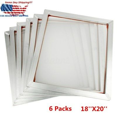 6pcs 50x45cm Screen Frame With 110t Mesh Silk Screen Printing Aluminum Alloy New