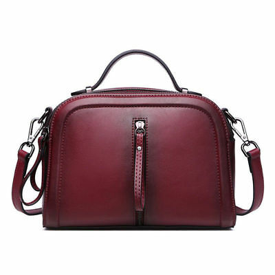 Fashion Women Genuine Leather Tote Handbags Crossbody Bags Vintage Shoulder Bag