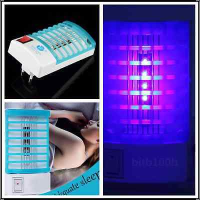 1x Indoor LED Electric Mosquito Fly Bug Insect Trap Zapper Killer Night Lamp AT