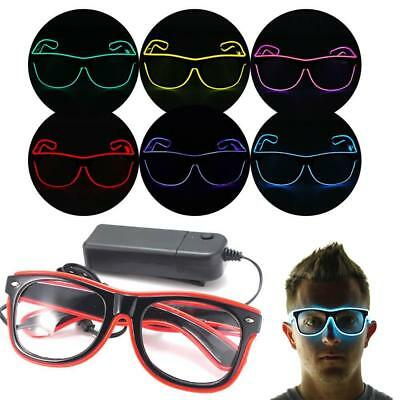 Wire Glasses LED Light Up Glow Sunglasses Eyewear Shades for Nightclub Party