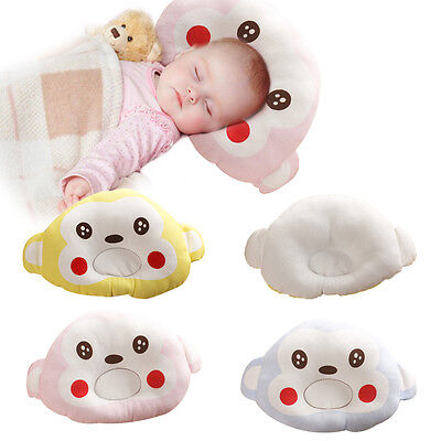 Newborn Infant Baby Kids Cotton Stereotypes Pillows Prevent Flat Head Support