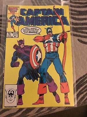 Captain America #317 (May 1986, Marvel) 1st Appearance of Death Throws