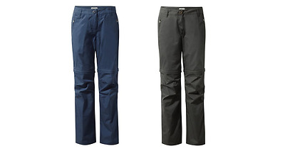 CWJ1142 Craghoppers Basecamp Style C65 Ladies Womens Zip-Off Trousers MRP £40