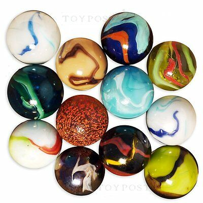 50mm Enormous Glass Marbles, Set of 3