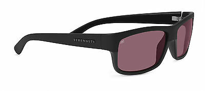 d3b239f82a1 Serengeti Martino Unisex Sunglasses Satin Shiny Black Polarized Sedona Pink  8264