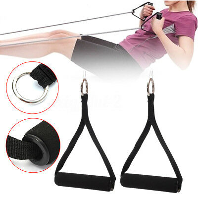 1/2pcs Tricep Rope Cable Attachment Handle Bar Resistance Gym Training Band -UK
