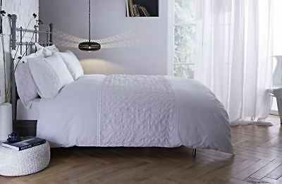 Bianca Cotton Soft White Origami Duvet Cover Stylish Hotel Guest House Bedding