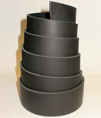LEATHER BELT BLANKS STRAPS RANGER 2.8MM THICK BLACK 153cm -  60 INCH LONG