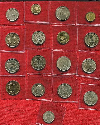 Nepal Lot Of 17 Unc Coins All Different Nr 12.95