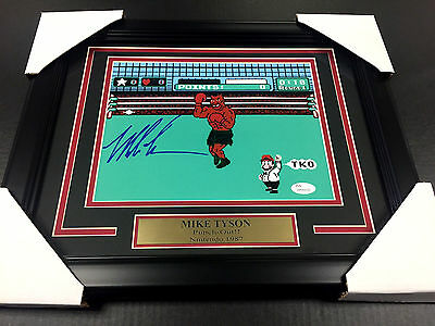 Iron Mike Tyson Authentic Signed Autographed 8X10 Photo Framed Jsa Coa Punch-Out
