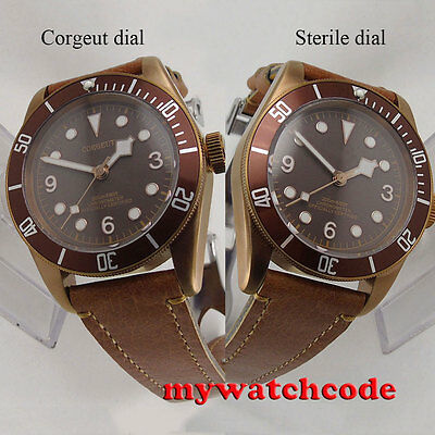 41mm corgeut coffee sterile dial coffee case Sapphire Glass automatic mens Watch