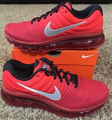 Nike Air Max 2017 Running Shoes Red White 851622 600 Boys Youth GS NEW $155
