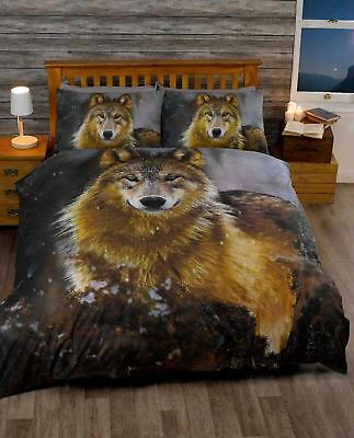 Twilight Wolf Wild Animal Bedding Duvet Cover Single Double King