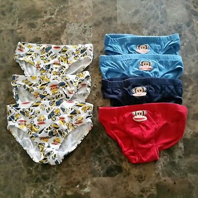 H&M Toddler Boy 2-4y Paul Frank Monkey construction trucks Underwear Briefs 7prs