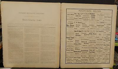 1966 JEFFERSON COUNTY Iowa Official Farm Plat Book And Farm ... on