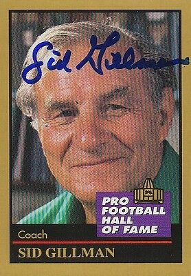 1991 ENOR SID GILLMAN (D 2003) Ohio State Autographed NFL Football Signed Card