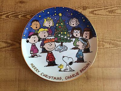 """Peanuts Collector Plate Danberry Mint """"Merry Christmas Charlie Brown"""""""