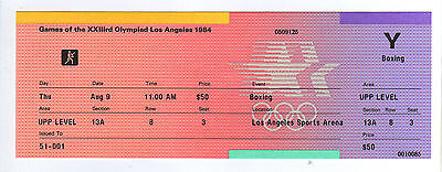 Orig.ticket     Olympic Games LOS ANGELES 1984  -  BOXING // all 1/2 Final`s  !!