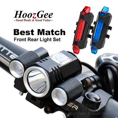 Ultra Bright CREE T6 LED Cycling Bike Cycle Front Torch Head Rear Tail Light Set