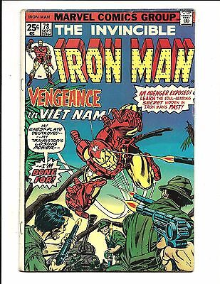 Iron Man # 78 (Cents Issue, Sept 1975), Fn
