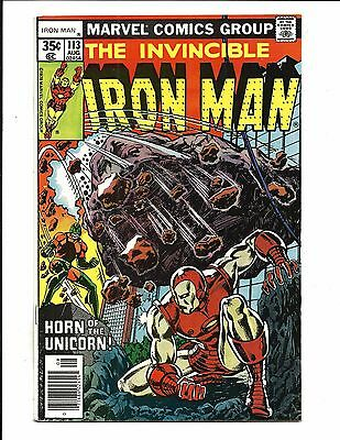 Iron Man # 113 (Cents Issue, Aug 1978), Vf/nm