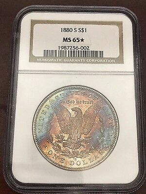 1880-S Morgan Dollar $1 NGC MS65* Beautiful toning!
