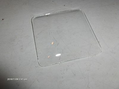 "NOS 3.70""  SQUARE CONVEX CLOCK GLASS  for Clock Repair"