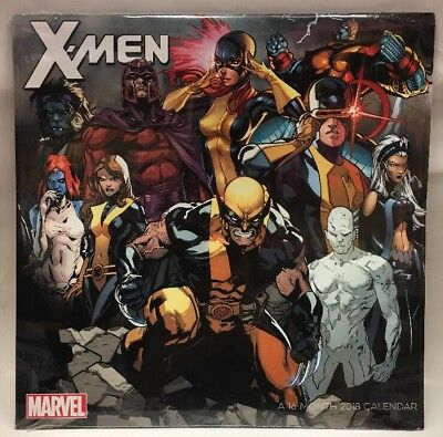 Marvel X-men A16- Month 2018 Calendar