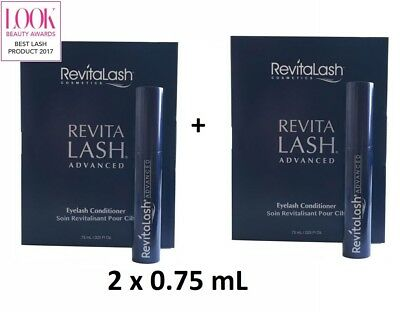 x2 REVITALASH ADVANCED EYELASH CONDITIONER 0.75mL = 1.5mL
