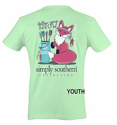 Red Fox Follow Your Arrow YOUTH SIZE Simply Southern Cotton Tee Shirt