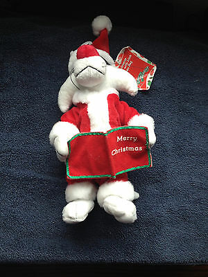 "10"" Santa Sylvester the Cat Plush with Tag"