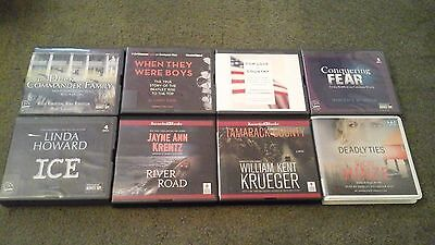 LOT of 8~AUDIO Books UNABRIDGED CD~MYSTERY/Fiction/Non-Fiction~Howard~Krentz++