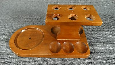 VTG Fairfax 6-Pipe Stand/Holder looks like Walnut - no pipes - No Humidor