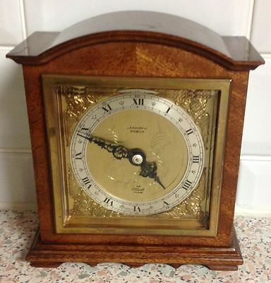 Elliott Mantle Bracket Clock Walnut Burr Ja Haskell, Ipswich