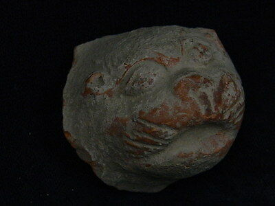 Ancient Teracotta Lion Head Bactrian C.300 BC #SG4184