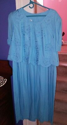 Blue mother of the bride dress size 18W