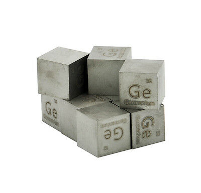 Germanium Metal 10mm Density Cube 99.999% Pure for Element Collection