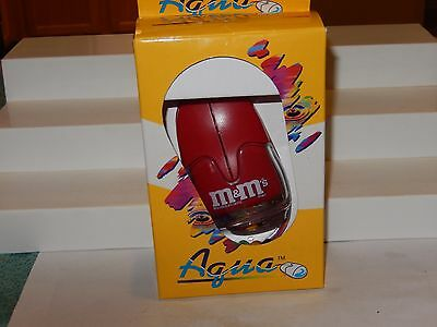 Vintage Collector M&M's Computer Mouse RED Aqua brand M&M