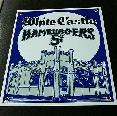 White Castle Hamburgers sign ...restaurant fast food