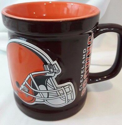NFL CLEVELAND BROWNS Ceramic MUG FOOTBALL COLLECTIBLE  Cup Helmet