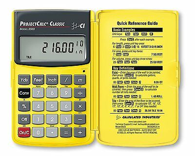 Calculated Industries Projectcalc Classic 8503C Home Improvement Calculator