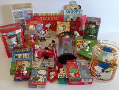 """Snoopy Peanuts Gang Collectibles """"Grab Bag"""" Box of Assorted Collectibles"""