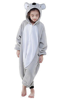 Unisex Kids Pajamas Kigurumi Cosplay Costume Animal Sleepwear (Grey Koala 95)
