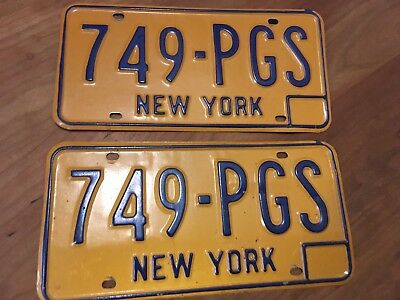 Pair 1973-1980 New York License Plates