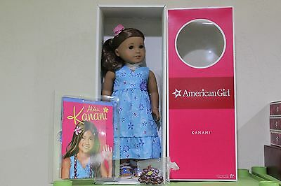 "American Girl GOTY 18"" KANANI DOLL & BOOK BRAND NEW IN BOX TIED DOWN RARE!!"