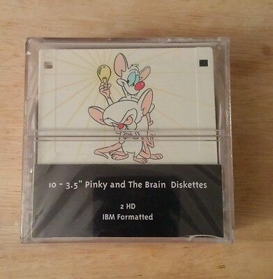SUPER RARE Pinky and the Brain DISKETTES SEALED Warner Brothers Animaniacs