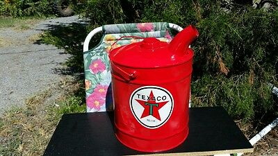 Vintage 5 Gallon Texaco Gas and Oil Can with large open spout (#2  OF 7)
