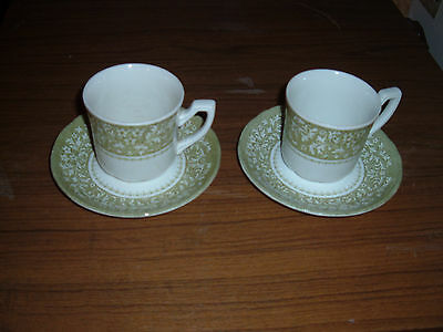 Lot of 2 J & G Meakin Royal Staffordshire Sherwood Ironstone Cups & Saucers