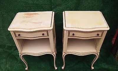 Drexel French Provincial Nightstands,Touraine Series, Cabriole Legs, Scroll Feet