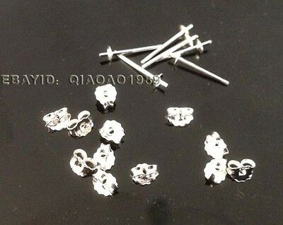 wholesale lots of 100 Pairs (sets) 925 sterling silver pins needle